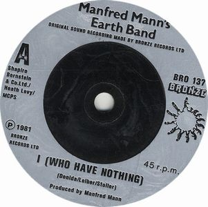 Manfred Mann's Earth Band I (Who Have Nothing) album cover