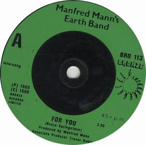 Manfred Mann's Earth Band For You album cover