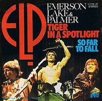Emerson Lake & Palmer Tiger in a Spotlight / So Far to Fall album cover