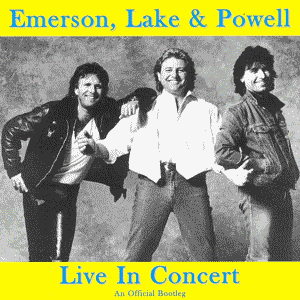 Emerson Lake & Palmer - Emerson Lake and Powell: Live In Concert - Lakeland Florida, 1986 (An official bootleg) CD (album) cover