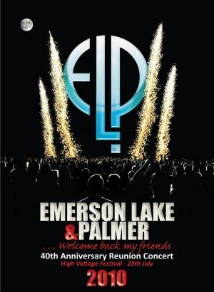 Emerson Lake & Palmer - 40th Anniversary Reunion Concert (High Voltage Festival 2010) CD (album) cover