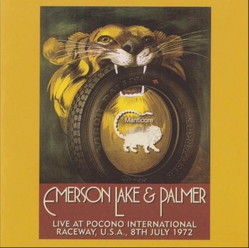 Emerson Lake & Palmer Live at Pocono International Raceway, USA, 1972 album cover