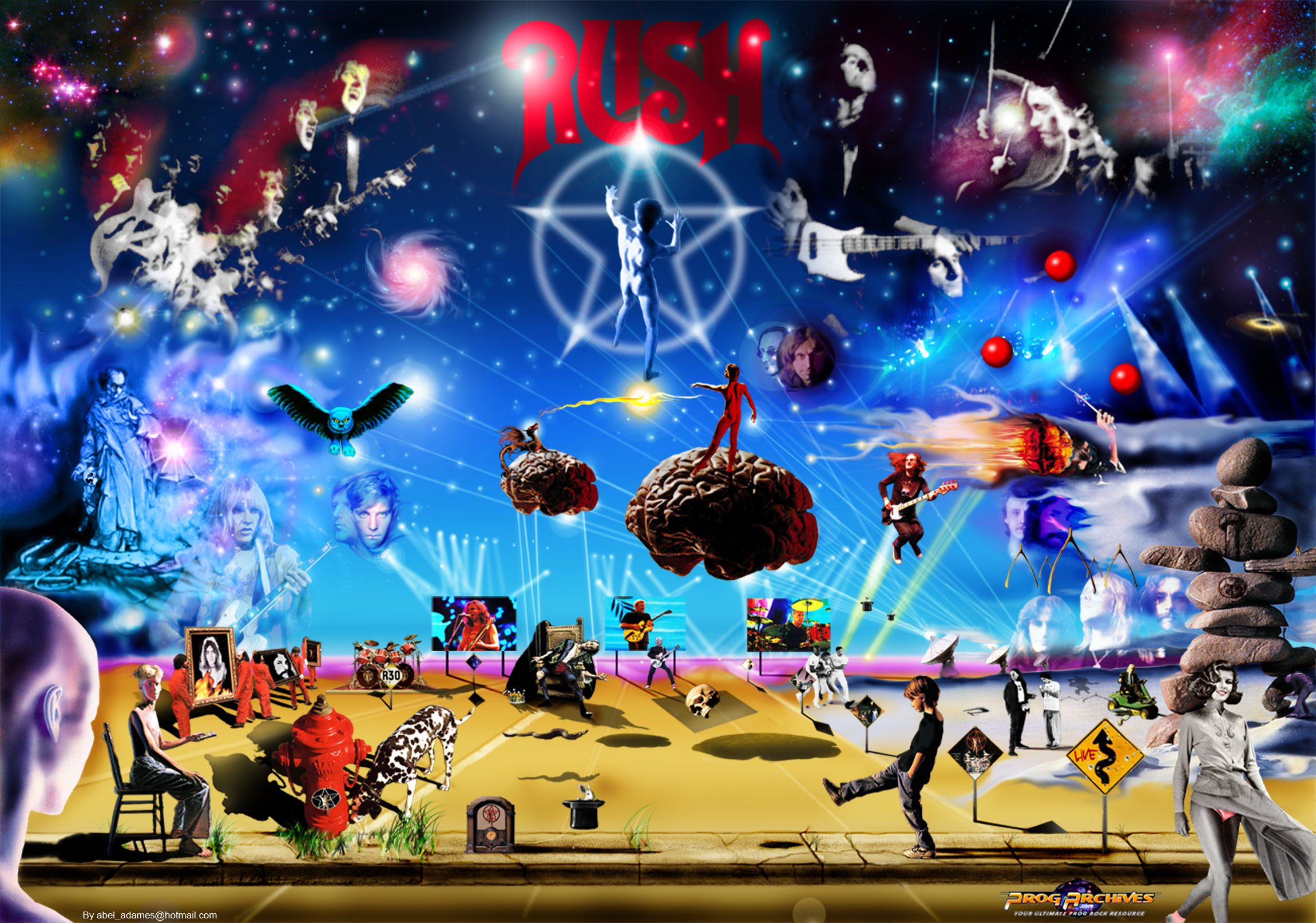 RUSH Collage by member ( darksideof ) | Download wallpaper